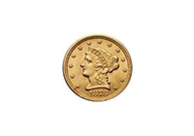 $2.50 Liberty Coronet Head Gold 1840-1907